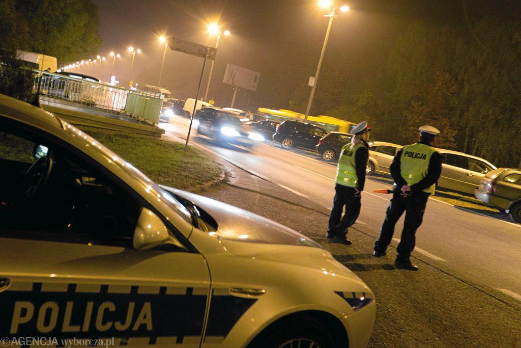 Kontrola policyjna. Zdjęcie ilustracyjne