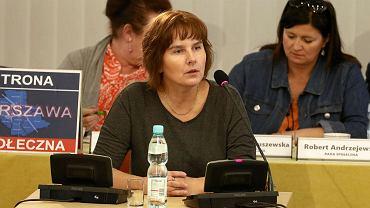 Magda Brzeska na posiedzeniu komisji weryfikacyjnej
