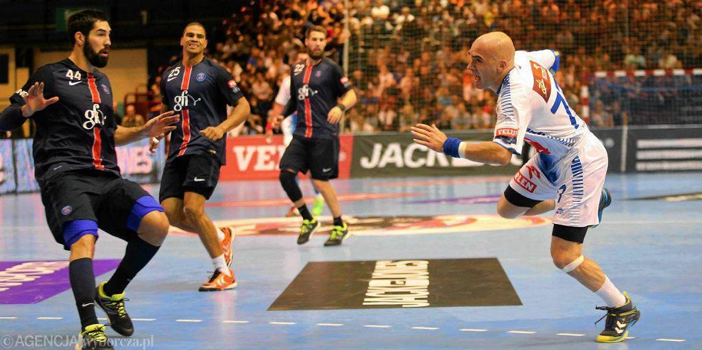 Liga Mistrzów, piłka ręczna. PSG - Orlen Wisła Płock 29:24. Ivan Nikcević z prawej