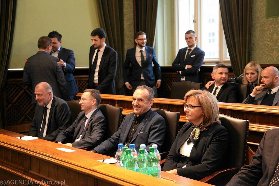 Sesja rady miasta podczas, której Rafał Dutkiewicz ogłosił, że nie będzie kandydować