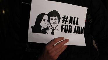Protest pod konsulatem Słowacji w związku z zabójstwem dziennikarza Jana Kuciaka