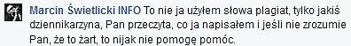 Komentarz Marcina Świetlickiego