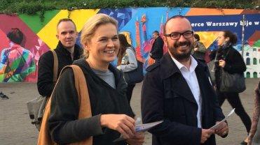 Barbara Nowacka na spotkaniu z wyborcami