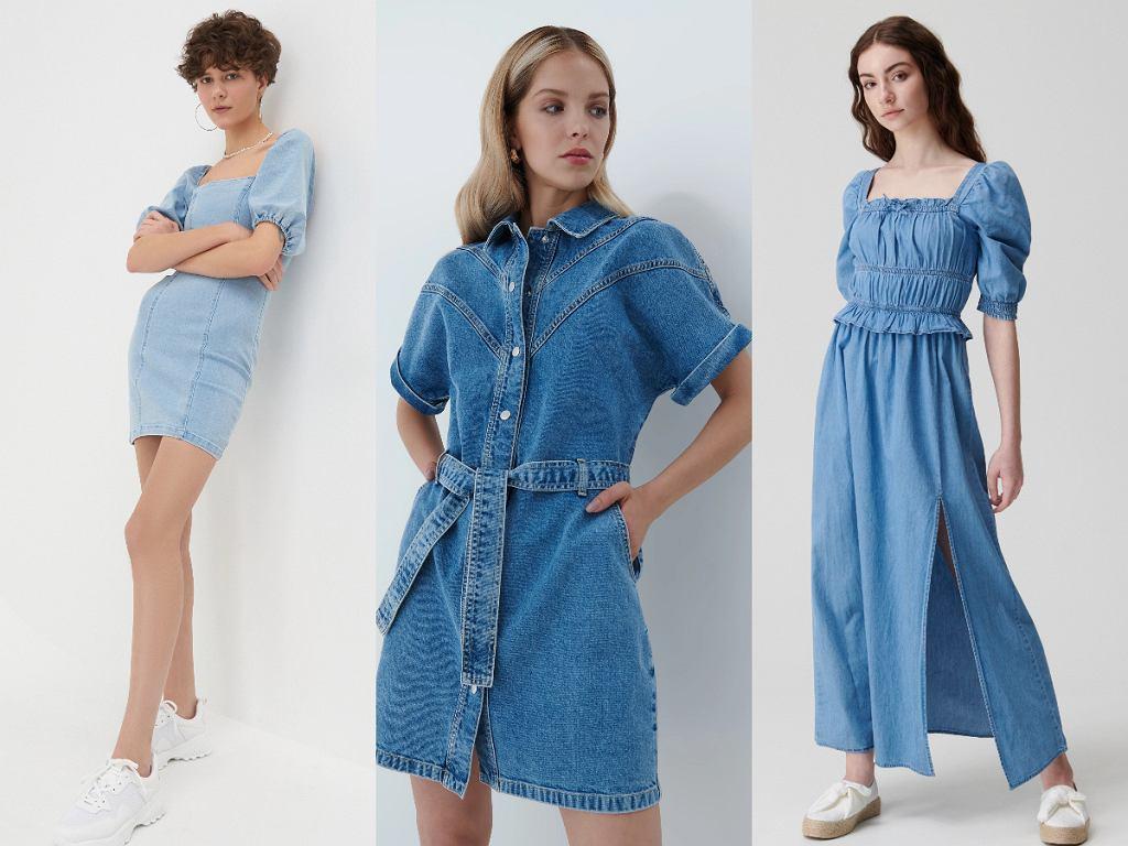 Sukienki jeansowe z sieciówek