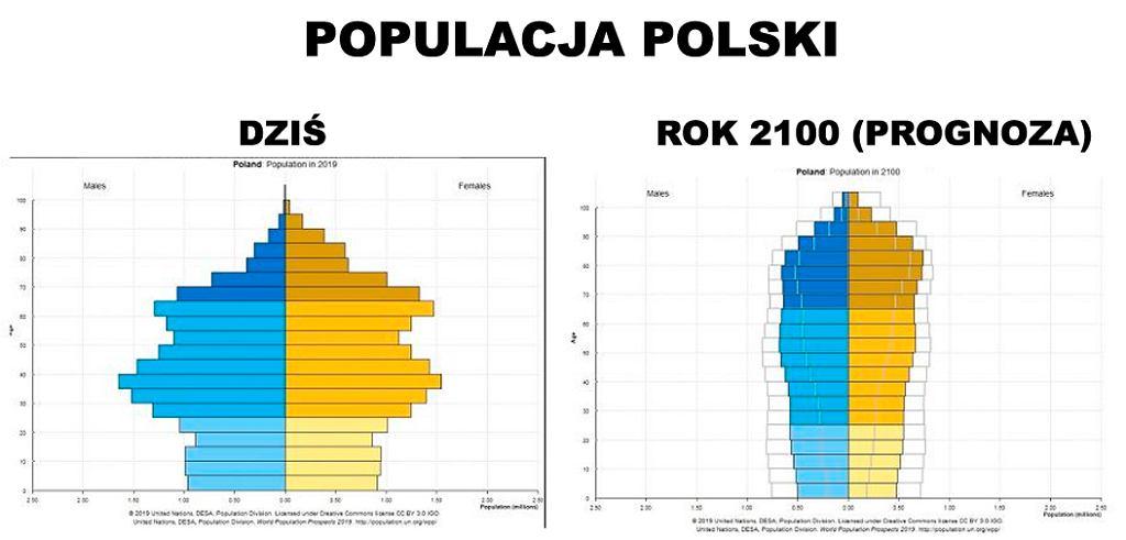 Jak może zmienić się populacja Polski? Prognoza ONZ