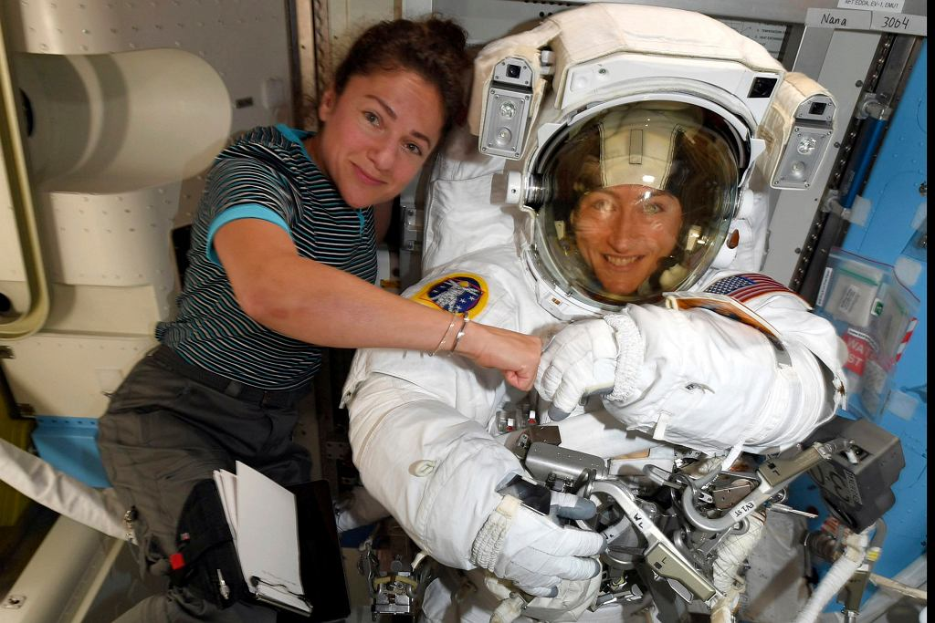 Astronautki Christina Koch i Jessica Meir