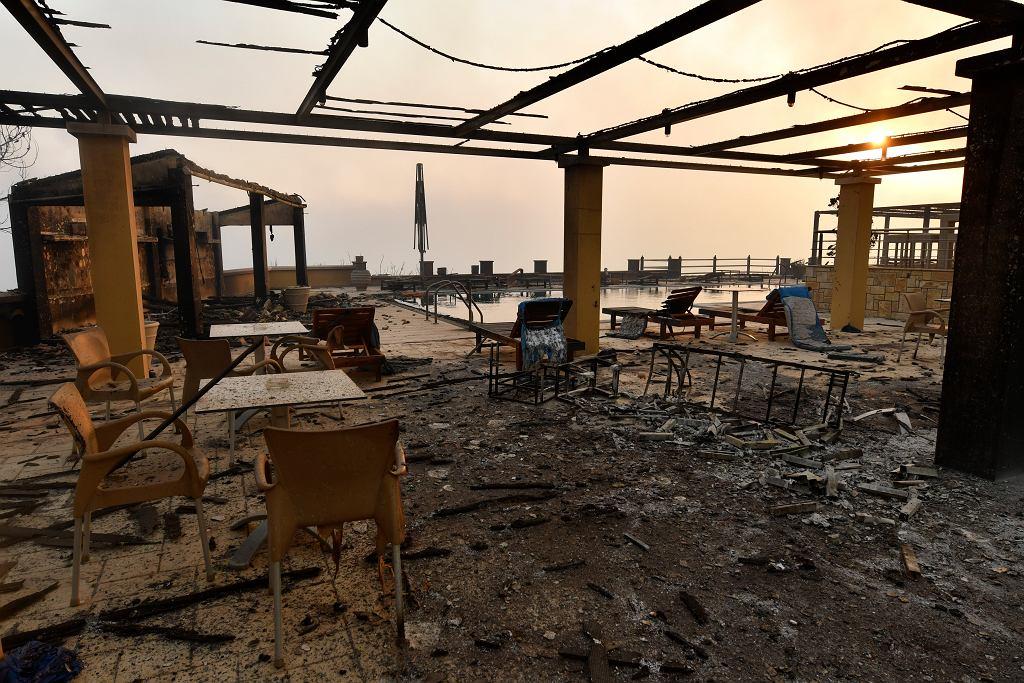 Pożary w Grecji. Spłonął hotel w rejonie miejscowości Olimpia