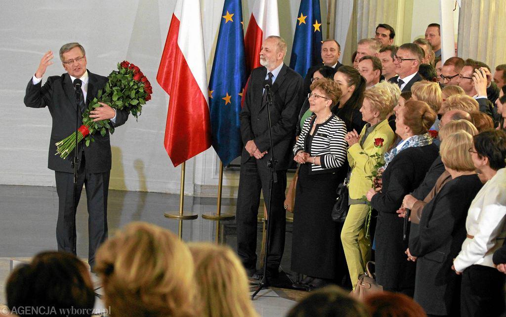 Spotkanie klubu Platformy Obywatelskiej z prezydentem Bronisławem Komorowskim