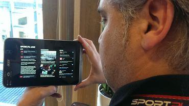 Aplikacja Sport.pl LIVE na tablecie Acer Iconia W4
