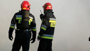 Pożar internatu w Trzcianie na Podkarpaciu. 13 osób trafiło do szpitala