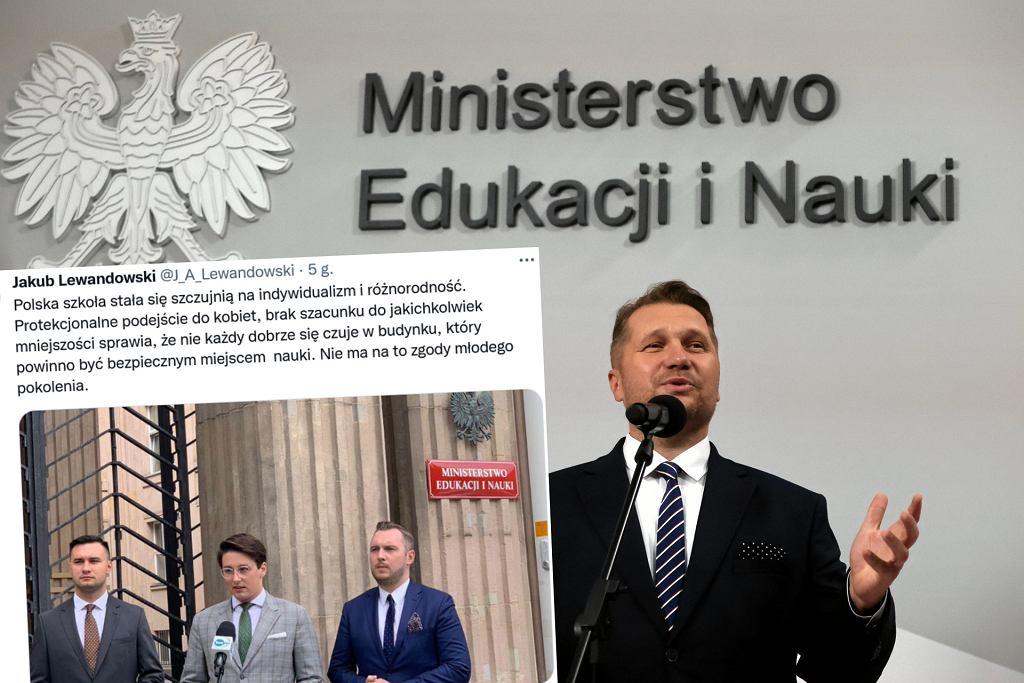 Doradca z młodzieżowej rady uderza w Czarnka. 'Szkoła stała się szczujnią'