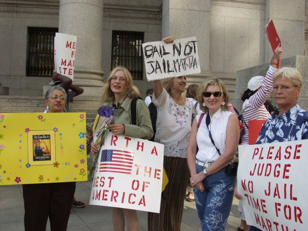 Martha Stewart Supporters outside the Courthouse NYC 2004