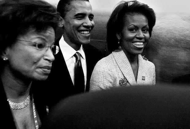 Barack i Michelle Obama podczas kampanii w 2004 roku.