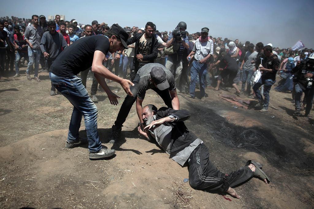 Protesty Palestyńczyków w Strefie Gazy