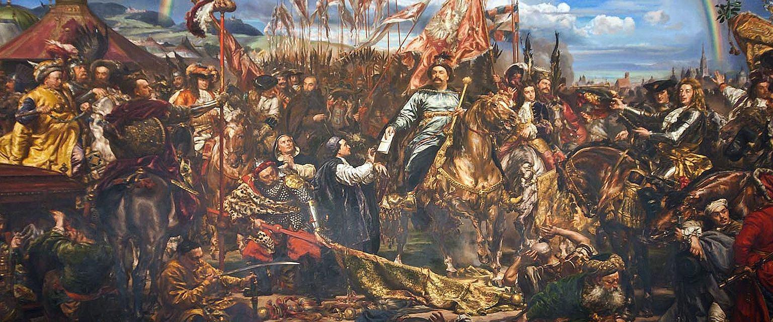 Jan III Sobieski wysyła wiadomość o zwycięstwie papieżowi Innocentemu XI (mal. Jan Matejko / wikimedia.org / domena publiczna)