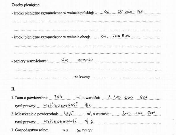 Oświadczenie majątkowe prezydenta Szczecina, Piotra Krzystka