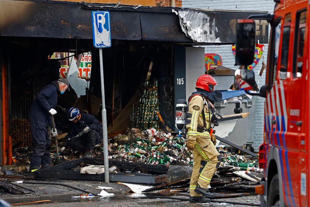 Polski sklep zniszczony w wybuchu 8 grudnia