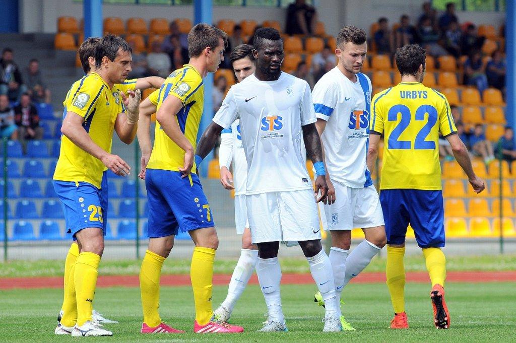 Lech Poznań - Atlantas Kłajpeda 2:0 w sparingu w Gniewinie , Abdul Aziz Tetteh