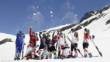 Zawodnicy Tauron Bachleda Ski podczas treningu w Val d'Isere, czerwiec 2013