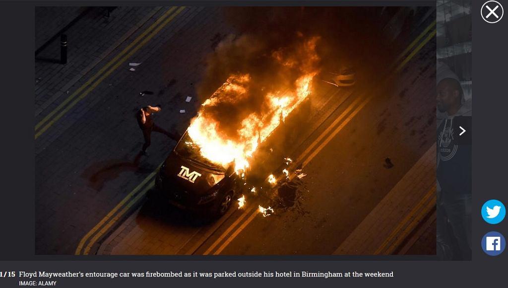 Spalone auto Floyda Mayweathera