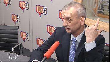 Sławomir Broniarz w studiu Radia TOK FM.