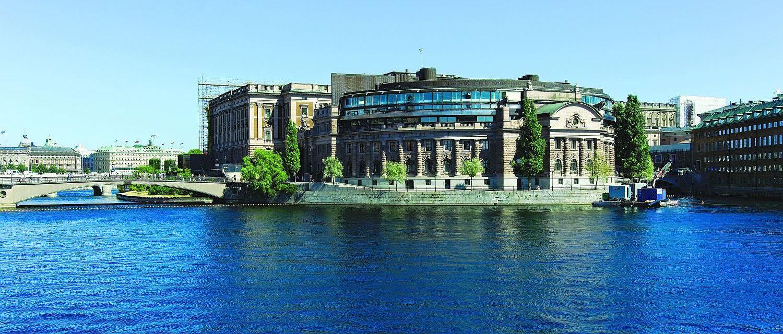 Budynek szwedzkiego parlamentu - Riksdagu (fot. Daniel Tubylewicz)