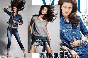 Kasia Struss w Vogue Mexico - wielki powrót dżinsu czy obciachu?
