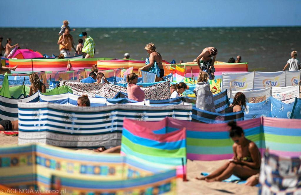 Parawany na plaży