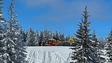 Pilsko. Śmiertelny wypadek na stoku. 34-letni narciarz uderzył w drzewo