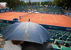 Poznań Open. Deszcz przerwał zmagania tenisistów na kortach w Lasku Golęcińskim
