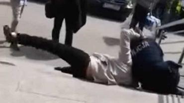 Atak na policjantów w Busku-Zdroju
