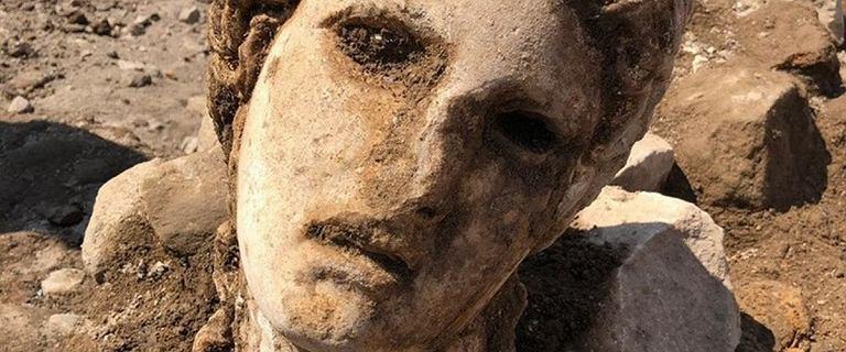 Archeolodzy odkryli marmurową głowę z okresu Cesarstwa Rzymskiego