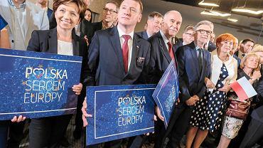 Wieczór wyborczy PiS w Poznaniu po wyborach do europarlamentu