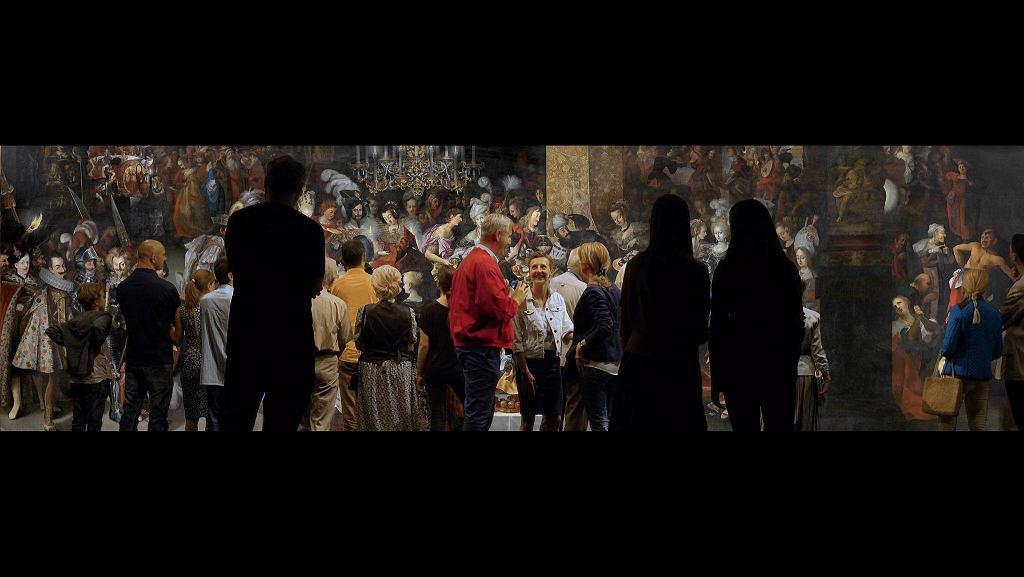 'Uczta u Heroda...' Strobla na kadrze z wideo Lecha Majewskiego  / 'Uczta u Heroda...' Strobla na kadrze z wideo Lecha Majewskiego