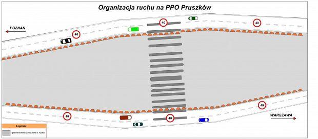 Tak wyglądała autostrada A2 pod Warszawą