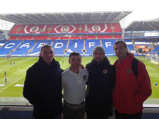 Trenerzy Akademii Zagłębia Lubin na stażu u byłego napastnika Liverpoolu