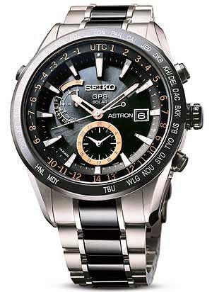 Zegarki: co nowego w 2013 roku, moda męska, zegarki, Zegarek z kolekcji Seiko, Astron Sast 017, Cena: ok 13 000 zł