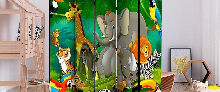 Oryginalne parawany w motywy zwierzęce - idealne do pokoju dziecka [ceny]