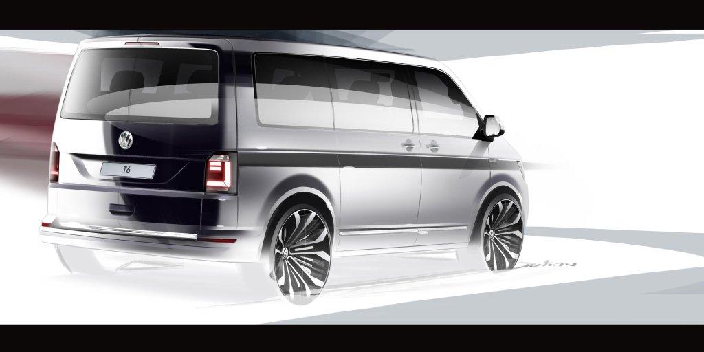 Volkswagen T6 szkic