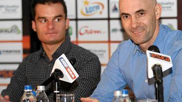 Adrian Miedziński i Tomasz Gollob