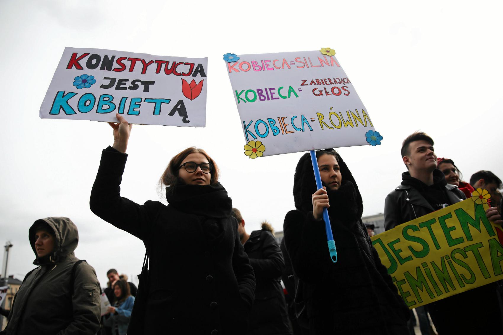 10.03.2019 Kraków. XV Krakowska Manifa (fot: Jakub Porzycki/ Agencja Gazeta)