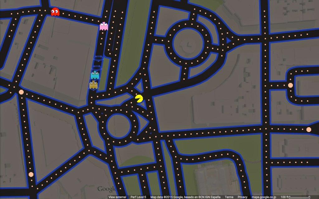 Pac-Man w Google Maps