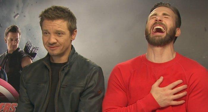 ''Avengers'', czyli Hawkeye i Kapitan Ameryka. A dokładniej aktorzy wcielający się w nich - Jeremy Renner i Chris Evans