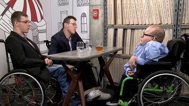 Adrian Glinka i Jakub Hartwich w studio z Pawłem Grzegorzem Iwaniukiem
