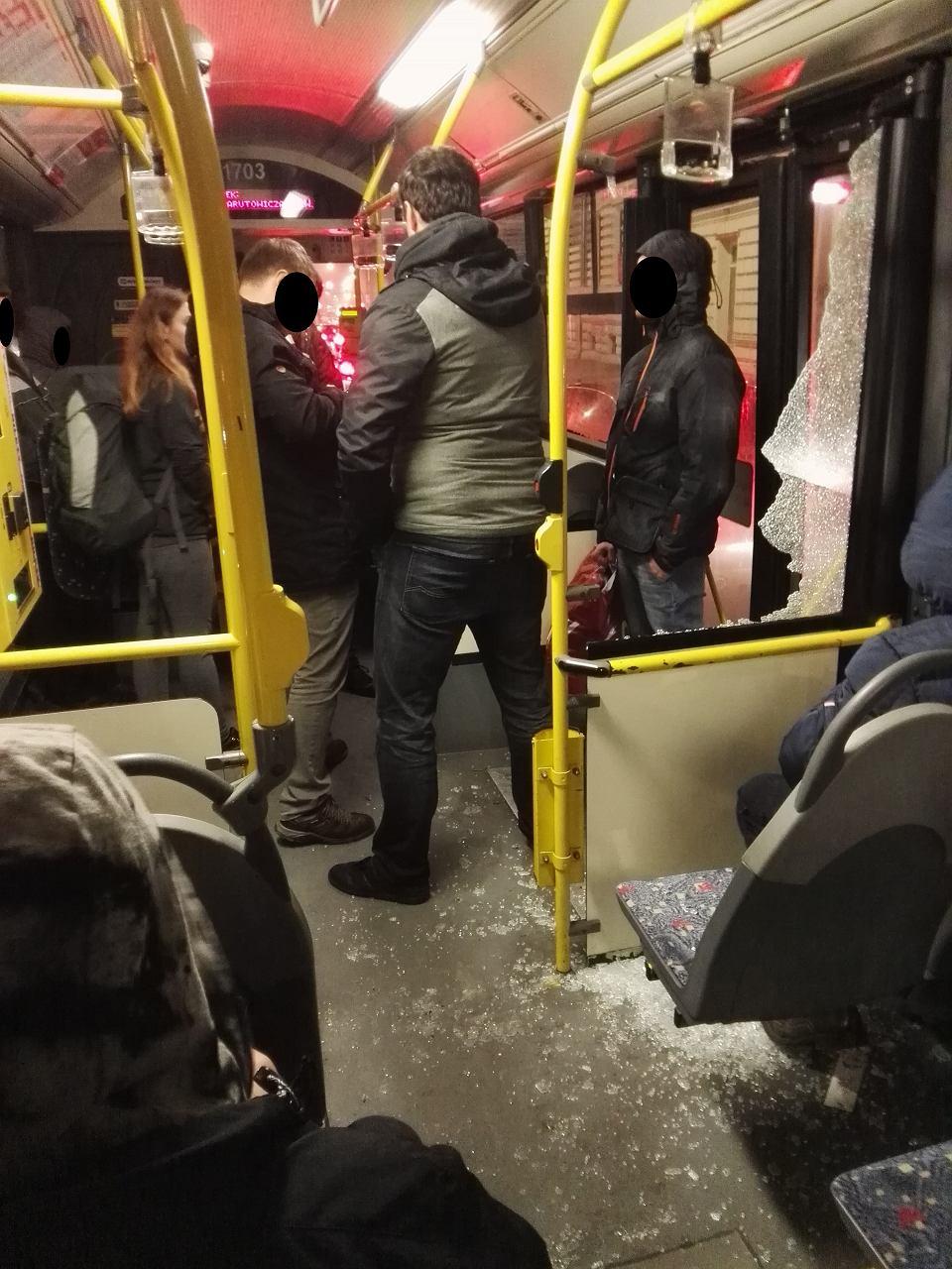 Zdjęcie wykonane w czasie zdarzenia przez jedną z pasażerek