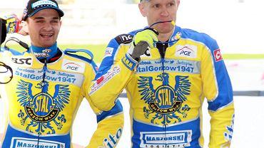 PGE Ekstraliga: Stal Gorzów - MrGarden GKM Grudziądz 56:34. Krzysztof Kasprzak (z prawej) i Bartosz Zmarzlik