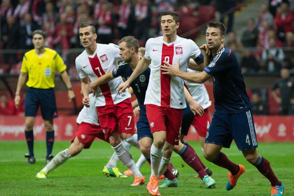Polska - Szkocja. Robert Lewandowski