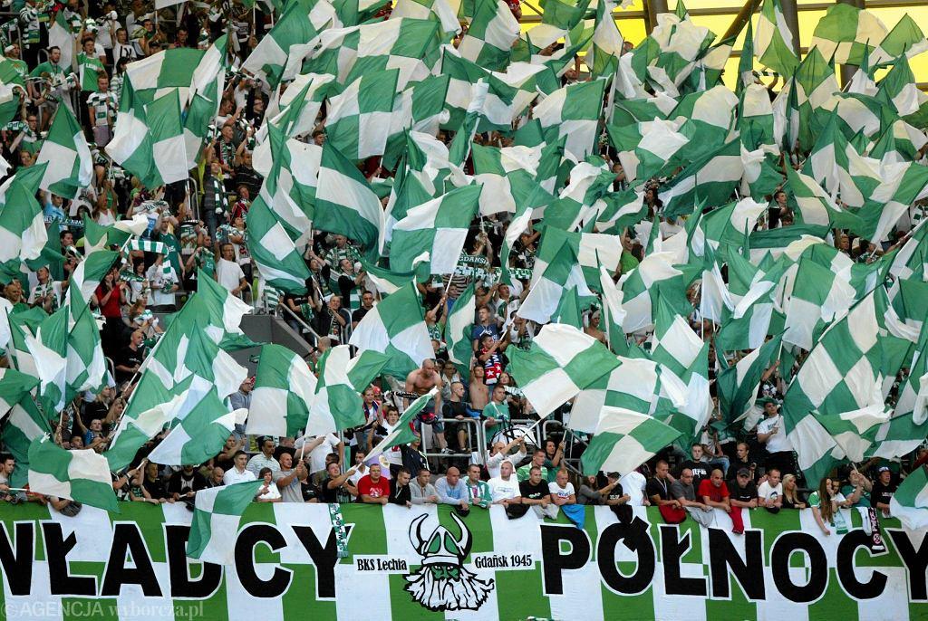 Kibice Lechii Gdańsk podczas meczu z Cracovią