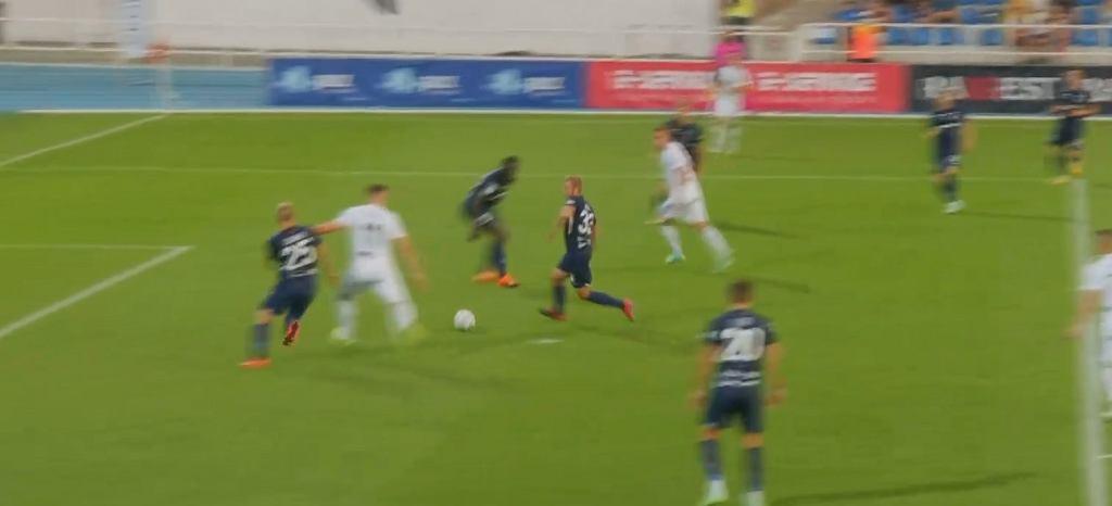 Gol w meczu Paide - Śląsk