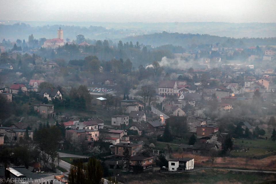 Smog nad miastem. Rybnik, 16 kwietnia 2014